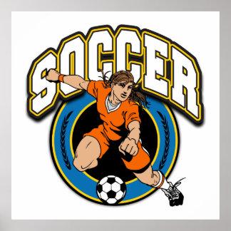 Women's Soccer Logo Poster