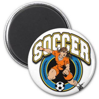 Women's Soccer Logo Refrigerator Magnet