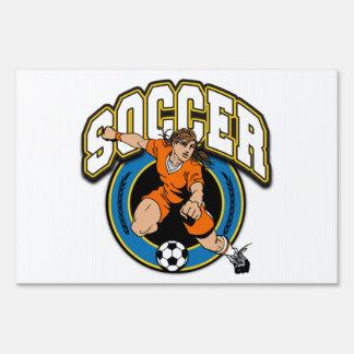 Women's Soccer Logo Sign
