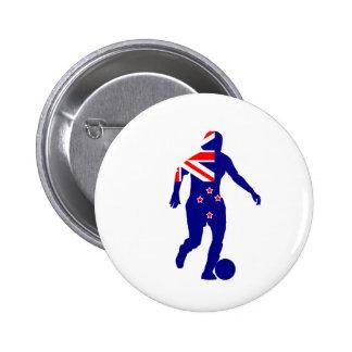 Women's Soccer New Zealand 2 Inch Round Button