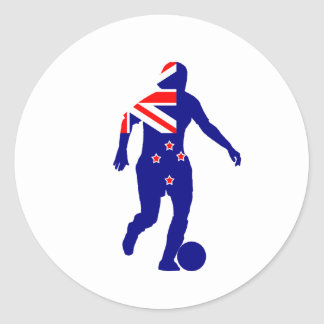 Women's Soccer New Zealand Classic Round Sticker