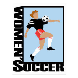 Women's Soccer Postcard