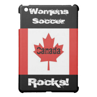 Womens Soccer Rocks!-Canadian Flag Case For The iPad Mini