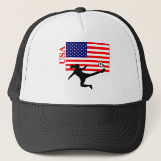 Women's Soccer USA Trucker Hat