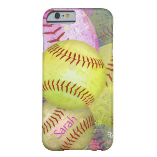 Women's Softball Barely There iPhone 6 Case