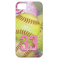 Women's Softball iPhone SE/5/5s Case
