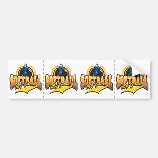 Womens Softball My Game Bumper Sticker