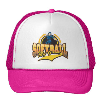 Womens Softball My Game Trucker Hat