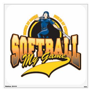 Womens Softball My Game Room Graphic