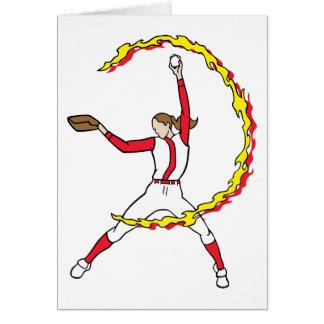 Womens Softball Pitcher Card