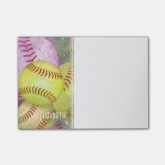 Women's Softball Post-it Notes