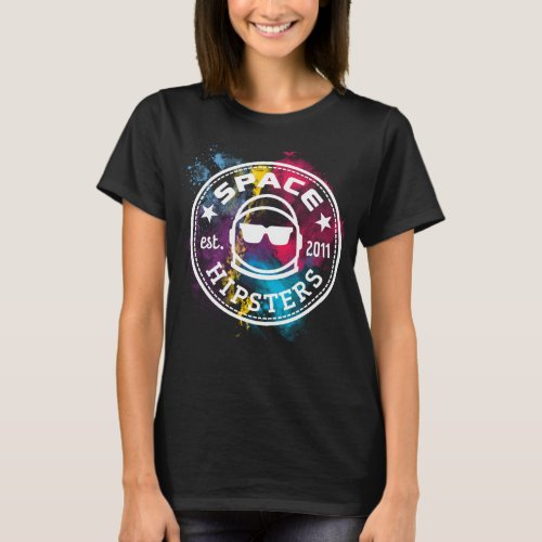 Womens Space Hipsters Nebula T_shirt