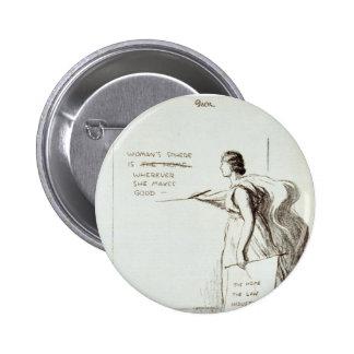 Women's Sphere Revised 2 Inch Round Button