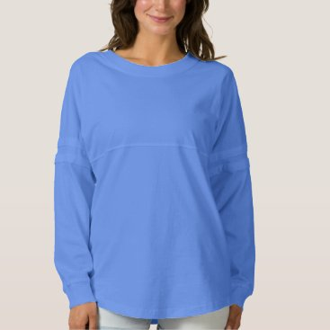 Christmas Themed Women's Spirit Jersey Shirt 9 colorS PERIWINKLE BL