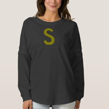 Women's Spirit Jersey Shirt Blk & Gold by creativeconceptss at Zazzle