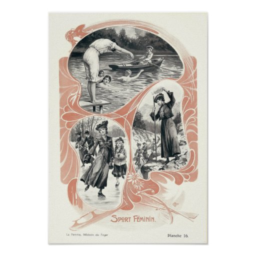 Women's Sports and Fitness in Victorian Era Poster