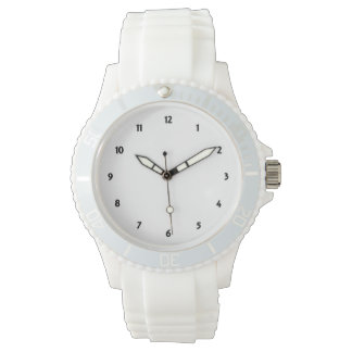 Womens Sporty White Silicon Watch Create Your Own