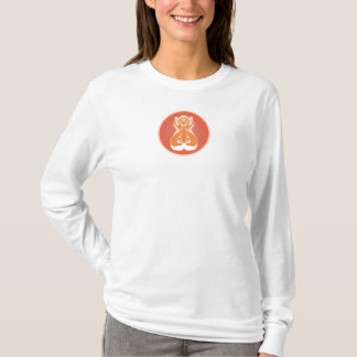 Women's Streamlined Hippo Head in Circle T-Shirt