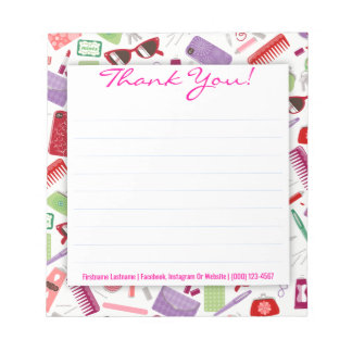 Women's Stuff with Pink - Custom Thank You Notepad