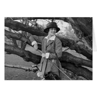 Women's Style in Golf Attire, early 1900s Card