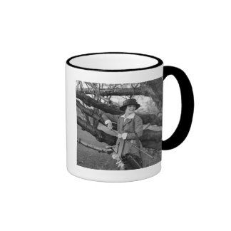 Women's Style in Golf Attire, early 1900s Ringer Coffee Mug