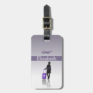 Womens Stylish Personalized Silhouette Luggage Tag