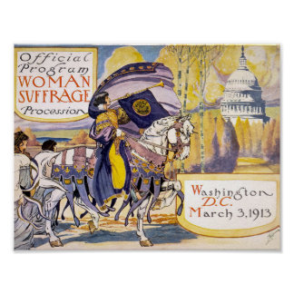 Women's Suffrage 1913 Girl on a Horse Poster