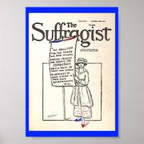Women's Suffrage altered copy Suffragist News Poster