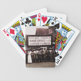 Women's Suffrage Group with Banner Bicycle Playing Cards