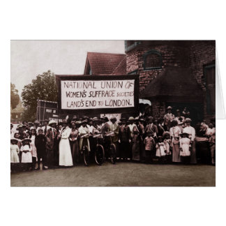 Women's Suffrage Group with Banner Greeting Card