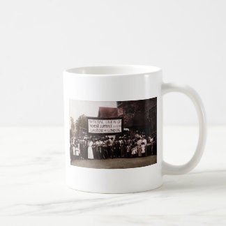 Women's Suffrage Group with Banner Classic White Coffee Mug