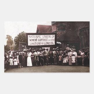 Women's Suffrage Group with Banner Rectangular Sticker