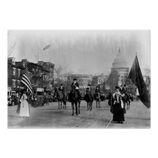 Women's Suffrage marching on Washington Poster