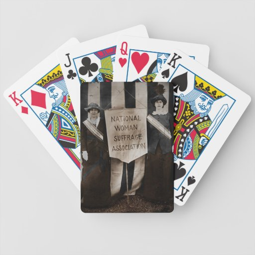 Women's Suffrage Movement Bicycle Playing Cards