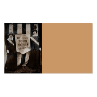 Women's Suffrage Movement Business Card