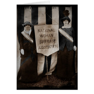 Women's Suffrage Movement Card