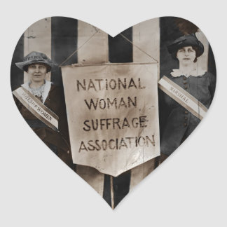 Women's Suffrage Movement Heart Sticker