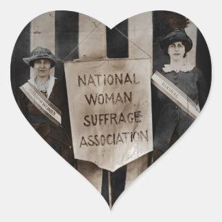 Women's Suffrage Movement Heart Sticker