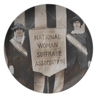 Women's Suffrage Movement Melamine Plate