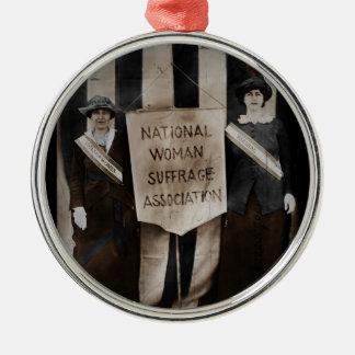 Women's Suffrage Movement Metal Ornament