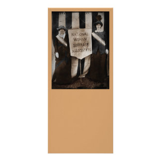 Women's Suffrage Movement Custom Rack Card