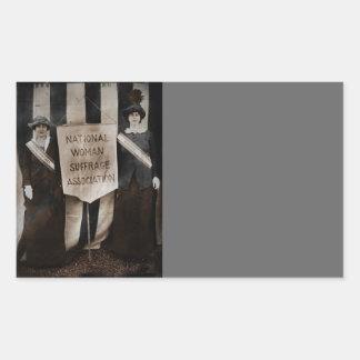 Women's Suffrage Movement Rectangular Sticker