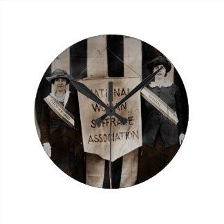 Women's Suffrage Movement Round Clock