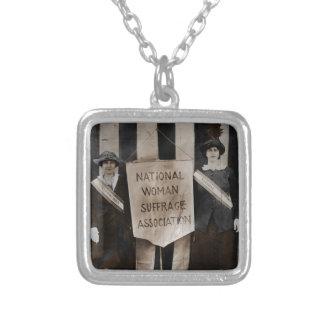 Women's Suffrage Movement Square Pendant Necklace