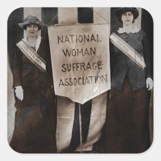 Women's Suffrage Movement Square Sticker