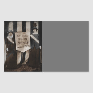 Women's Suffrage Movement Rectangle Sticker