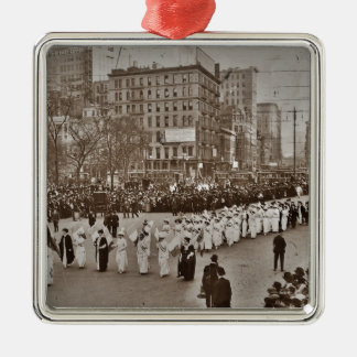 Women's Suffrage Parade 1912 Metal Ornament