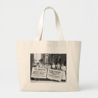 Women's Suffrage Pickets, 1917 Large Tote Bag