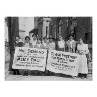 Women's Suffrage Pickets: 1917 Poster