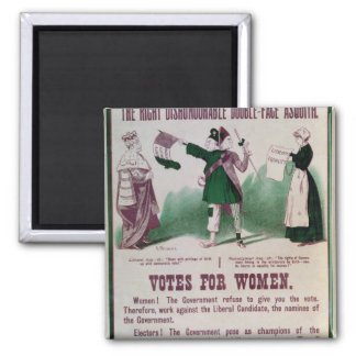 Women's Suffrage Poster 2 Inch Square Magnet